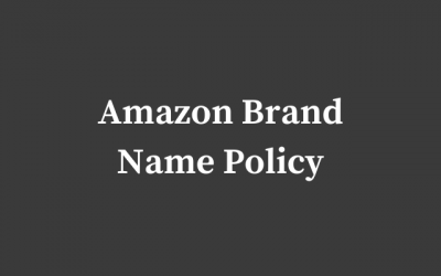 Amazon Brand Name Policy